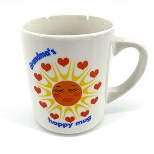 Vintage Grandma's Happy Heart Sun Mug